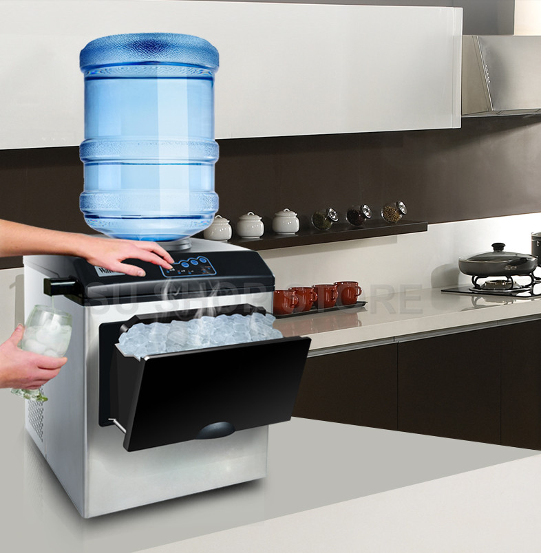 Ice Making Machine Electric Commercial Or Homeuse Countertop Automatic Bullet Ice Maker, Ice Cube Making Machine, 220V HZB-25/BF