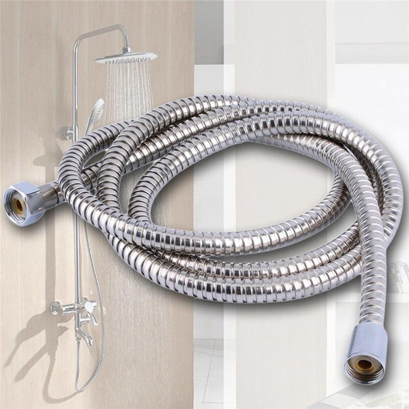 Neue Ankunft Edelstahl Schlauch 1,1 M Dusche Schlauch Flexible Bad Wasser Rohr Silber Farbe Gemeinsame Pumbing Schläuche Heizung Schläuche Heimwerker