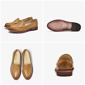 Image 5 - BeauToday Penny Loafers Women Sheepskin Moccasin Genuine Leather Slip On Pointed Toe Flats Plus Size Shoes Handmade 27013