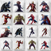New superhero square pillow cover super man case spiderman double sides pattern covers size 45*45cm