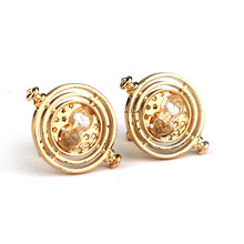 MQCHUN Harry P Time Turner Cufflinks Hermione Granger Rotating Spins Hourglass Pendant Fashion Movie Jewelry For Women Men