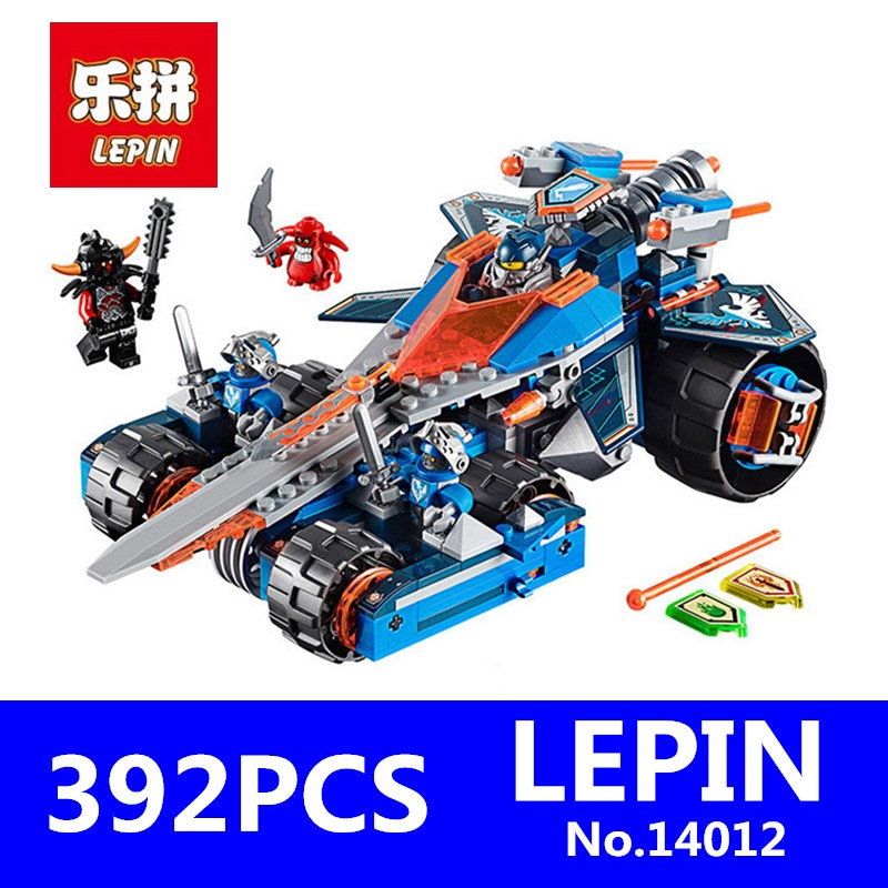 Nexus Knights Clay's Rumble Blade Jestro Clay Building Blocks LEPIN 14012 392Pcs Scurrier Children Educational Toys Compatible rumble roses xx купить спб