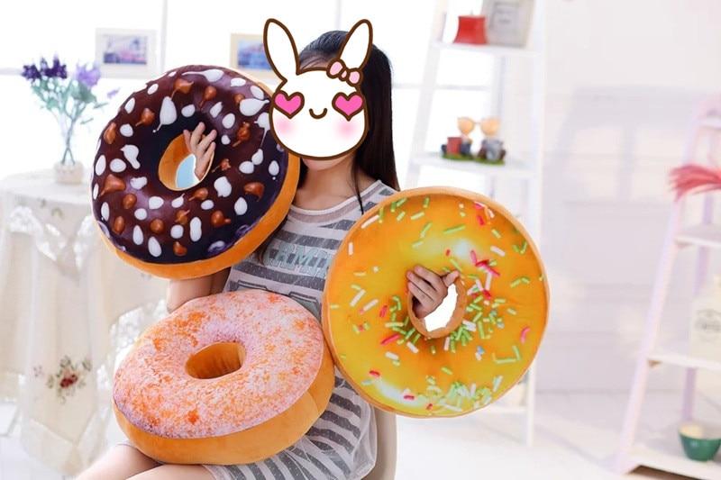 Grappig ring cartoon donuts bank en kussen kussen rugkussen auto