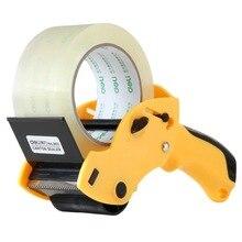 1 лента из ПК упаковщик для запечатывания ленты диспенсер может 6 см ширина уплотнительная лента Держатель резак ручная упаковочная машина цвет случайный