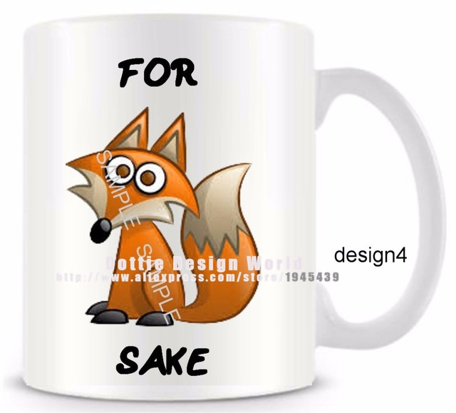 For fox sake funny novelty travel mug ceramic white coffee tea cup for fox sake funny novelty travel mug ceramic white coffee tea cup custome personalized birthday easter negle Image collections