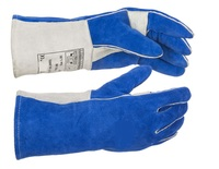 Premium Top Quality Split Cowhide Welding Gloves Double Leather Reinforced Leahter Palm KEVLAR Stitched Wing Thumb