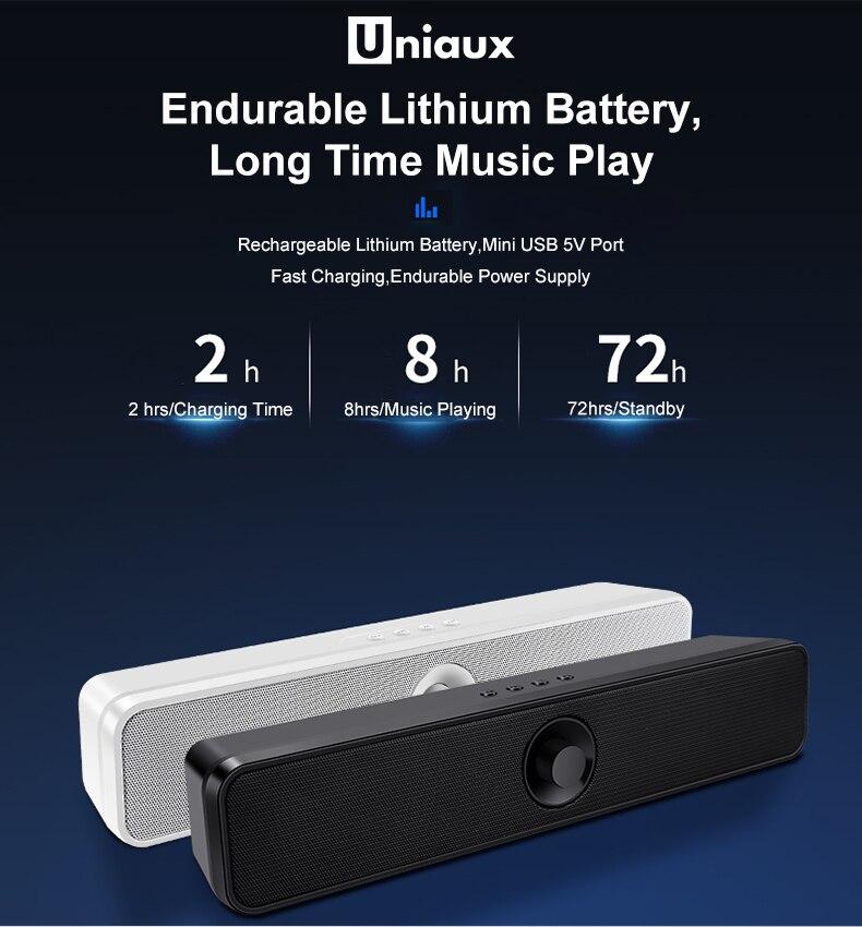 Image 4 - TV Soundbar Blueto oth Subwoofer Bass Speaker Built in Battery Mini Line in TF USB Television Speaker Home Theater-in Soundbar from Consumer Electronics