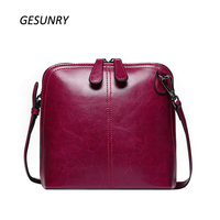 New Genuine Leather Shell Women Shoulder Bag Luxury Brand Bag Women Messenger Bag Famous Designer Brand