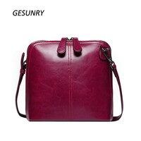 New Genuine Leather Shell Women Shoulder Bag Luxury Brand Bag Women Messenger Bag Famous Designer Brand