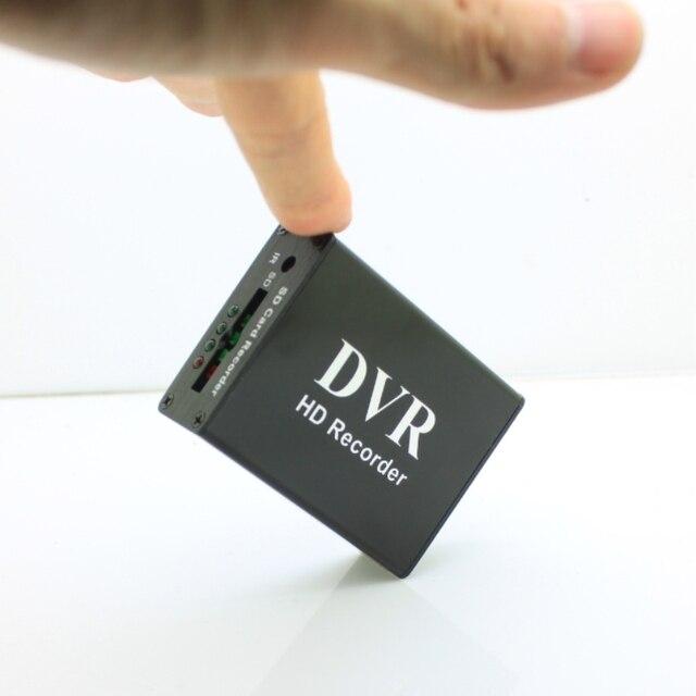 Новый 1CH Мини DVR CVBS запись, 1 канал CCTV монитор Поддержка нескольких режимов записи SD карта записи DVR Черный