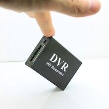Yeni 1CH mini DVR CVBS kayıt 1 kanal CCTV monitör desteği çoklu kayıt modları SD kart kayıt DVR siyah