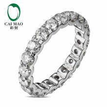 CaiMao 18KT/750 White Gold 1.9 ct Full Cut Diamond Engagement Gemstone Wedding Band Ring Jewelry
