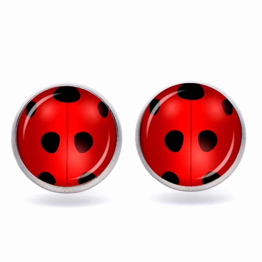 Cute Earrings Cosplay Circle with Dot Cat Noir Gifts for Women Girls Party  Anime Jewelry Decoration Girl Ring Toys