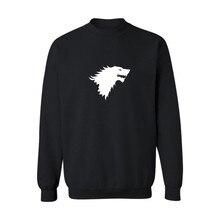 Game of Thrones Stark 4xl Black Mens font b Hoodies b font and font b Sweatshirts