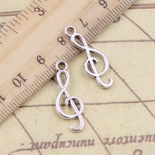 20 sztuk Charms Musical uwaga 25x9mm tybetański brąz srebrny kolor wisiorki antyczny tworzenia biżuterii DIY Handmade Craft tanie tanio YOUNGISMONEY CN (pochodzenie) Ze stopu cynku other Metal Archiwalne