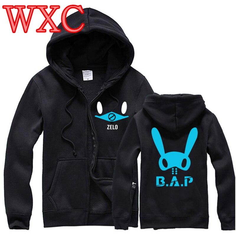1ac6db129ec BAP Jacket Moon Jong Up Sweatshirts Zelo Kim Himchan Jung Dae Hyun Bang  Yong Guk Moletom Harajuku Kpop Clothes Korea Style WXC-in Basic Jackets  from Women s ...