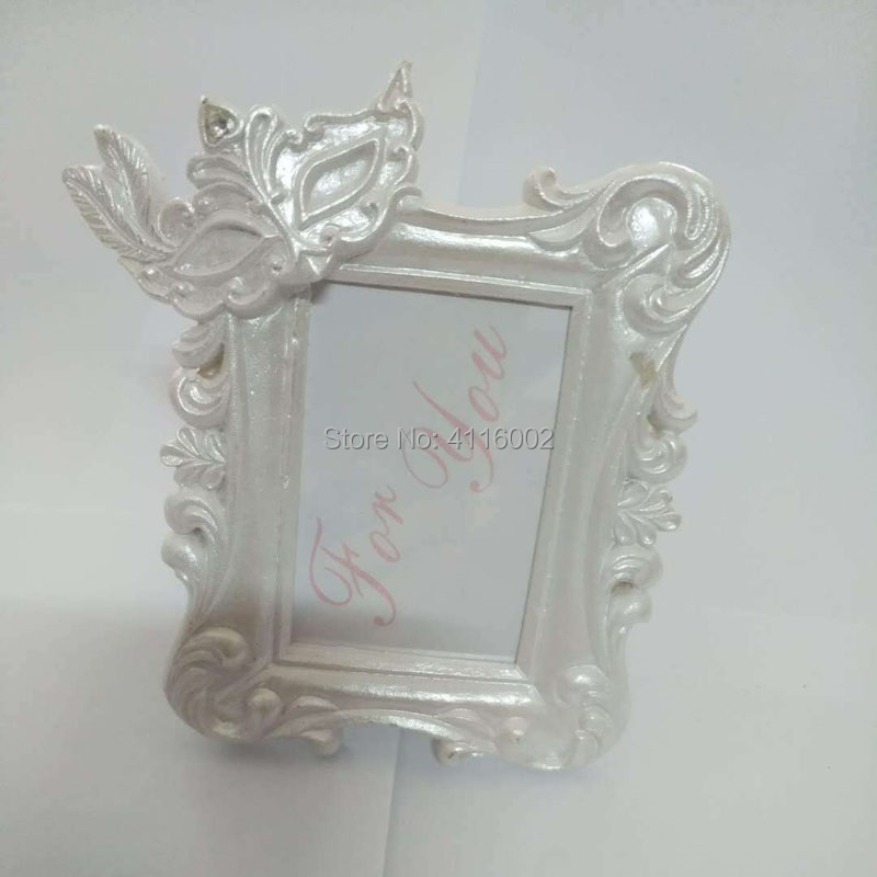 83a3048a6c60 50PCS Mardi Gras Masked Theme Picture Place Card Frame Wedding Favors Table  Setting Event Photo Mini Frame-in Frame from Home   Garden on  Aliexpress.com ...