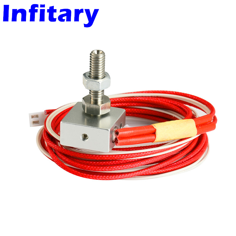 Free Shipping 3d printer Accessories Nozzle + Aluminum Block + Heating Cable Assembly For 3d printer Extruder 3 d printer accessories nozzle tube fittings peek j head accessories high temperature radiator pipe free shipping