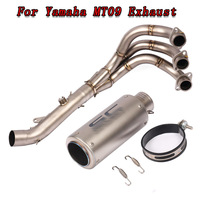 MT09 Motorcycle Slip On Exhaust Modified Front Pipe With Muffler DB Killer For YAMAHA MT 09 2014 2015 2016 2017