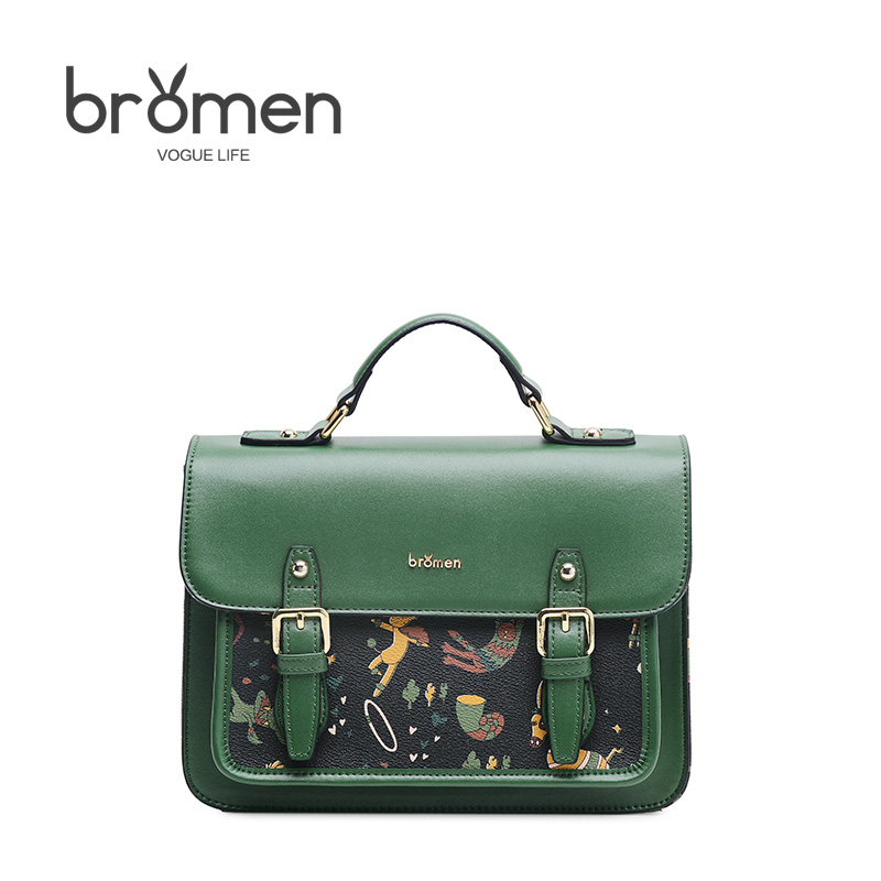 BROMEN Crossbody Bags for Women Leather Handbags PVC Printing Satchels Ladies Shoulder Messenger Bag Brand Design Dames Tassen bromen crossbody bags for women leather handbags pvc printing satchels ladies shoulder messenger bag brand design dames tassen