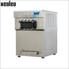 Xeoleo Commercial Soft Ice cream machine With Pre-Cooling&Expanding System Professional 3 Flavors Ice cream maker R404A 2350W