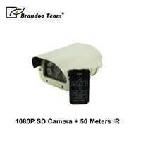 Güvenlik ve Koruma'ten Gözetim Kameraları'de 1080 P HD SD Su Geçirmez güvenlik kamerası Desteği 50 Metre Gece Görüş Full HD 1080 P video 128 GB SD Kart açık Gözetim Kamera