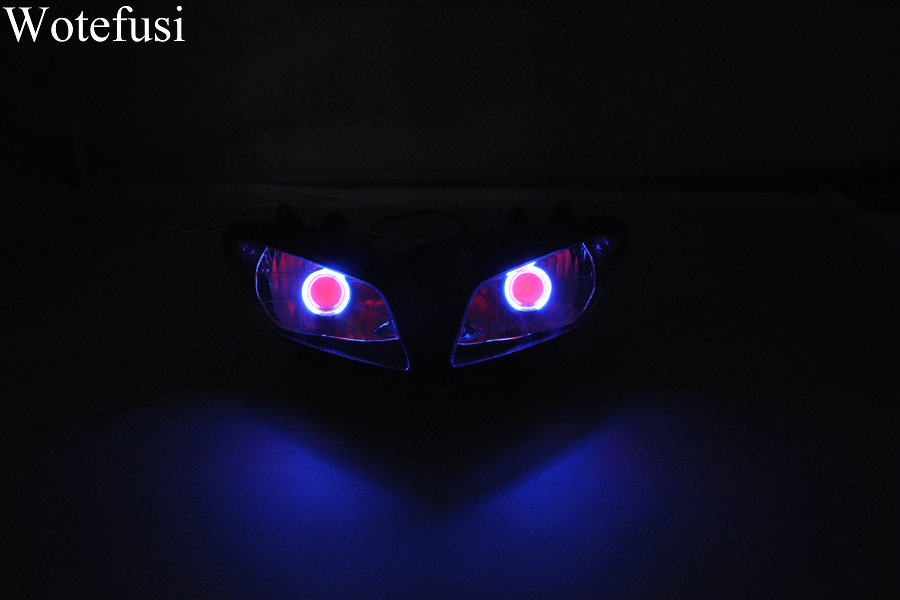 Wotefusi ABS Projector Lamps Headlight Blue Angel Eye+Red Devil Eye For YAMAHA YZF1000 R1 02-03 2002 2003 [DD11-BR] r b parker s the devil wins