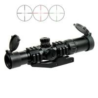 1.5 4X30 Tactical Rifle Scope w/ RGB illuminated Horseshoe Reticle & Scope Mount fit AR15 .223 5.56mm RL6 0065