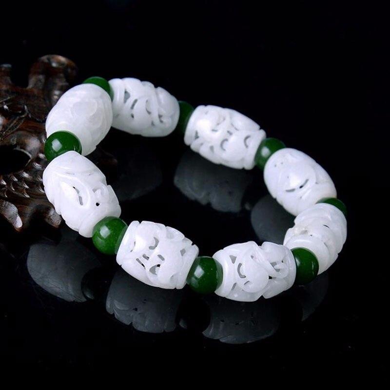 100% natural hetian stone bracelet100% natural hetian stone bracelet