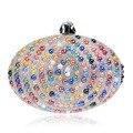 Cerámica de Color Caramelo de Las Mujeres Bolsos de Noche de Diseño de Huevo Cadena de Hombro Bolsa de Mensajero Día Diamond Embragues Monedero De la Cena de La Boda