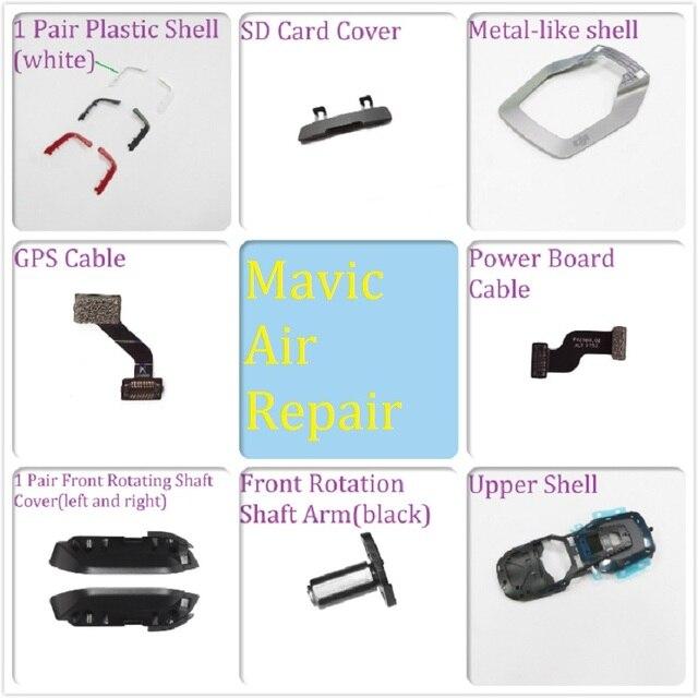 Оригинальные запасные части для DJI Mavic Air GPS Moudle Shell вращающийся вал Arm SD Cover Screw Set Power Board Cable Visual System ..