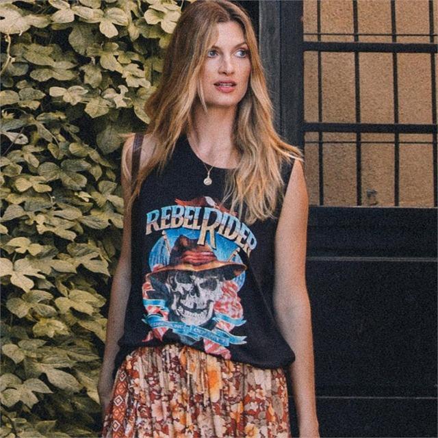 Rebel Rider Printed Woman's Shirt