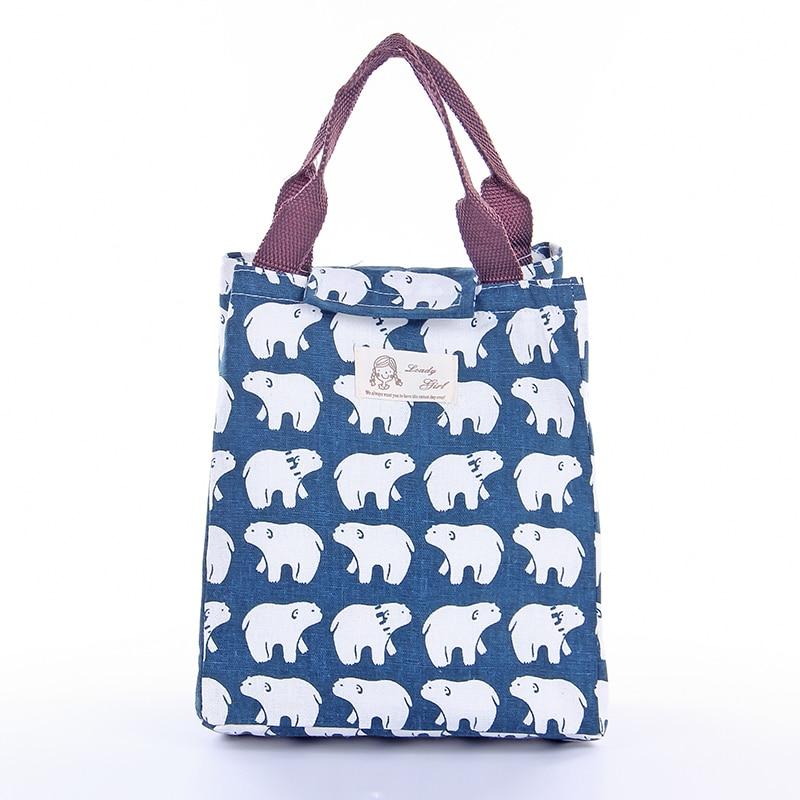 IUX Cute Animal Printed Female Shopping Tote Bag Big Canvas Handbag - Պայուսակներ - Լուսանկար 3
