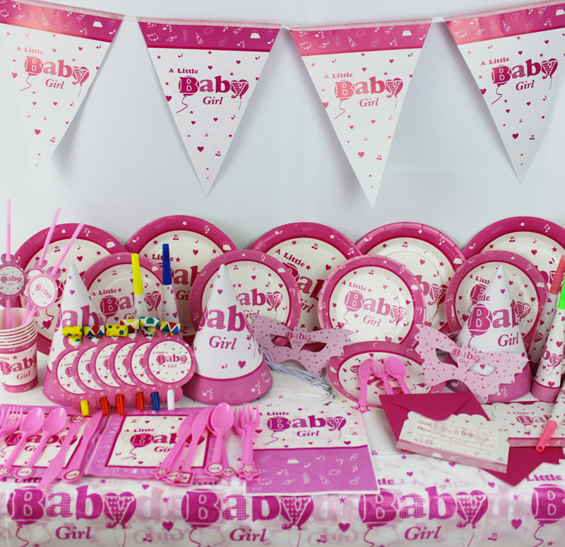 78pcs Kids Birthday Party Decoration Set A little baby Girl Theme