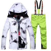 2018 Winter Snow Weather womens ski suits waterproof female snow jackets and pants sets thicken breathable snowboard clothing