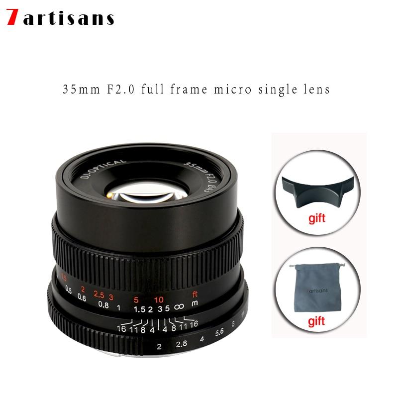 7 artigiani 35mm f2.0 Prime Lens per Tutti I Singoli Serie per E-mount NEX-FX-mount Telecamere A7 a7II A7R A7RII A7S A6500 X-A10 X-A2 X-A3