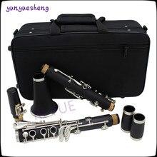 Высокое качество B 17 ключ кларнет белый латунь никелированная ключ, ABS трубы материал корпуса восемь видов цвет можно выбрать