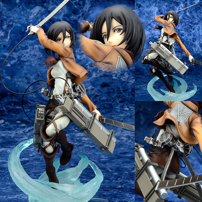 Anime Figure 23 CM Attack on Titan Mikasa Ackerman Battle ver. PVC Action Figure Toy Collectibles Model Doll anime attack on titan chibi ackerman