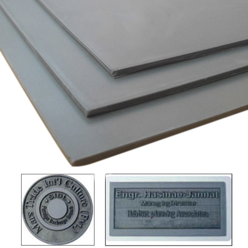 1pc A4 Gray Laser Rubber Sheet Withstand Oil Abrasion Precise Engraving Printing Sealer Stamp 297 X 211 X 2.3mm