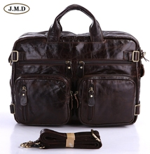 Hot Sale Applied Style Vintage Genuine Leather Men's Hand Business Laptop Bag For Men Backpacks 7026C-1