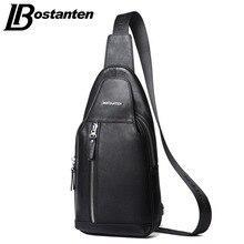 BOSTANTEN Neue marke Designer Fashion Kuh Echtes Leder Tasche Schlinge Brust Pack Männer Messenger Bags Vintage Umhängetaschen