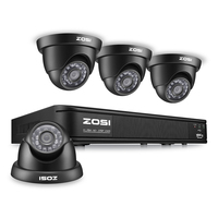 ZOSI 8CH CCTV System 8CH Network DVR 4PCS 900TVL IR Weatherproof Home Security Camera System Surveillance
