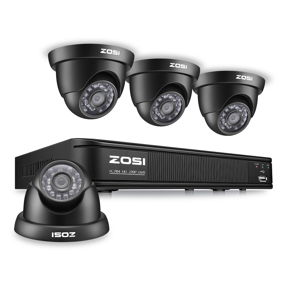 TVI ZOSI 8CH Sistema CCTV 8CH Rete DVR 4 PZ 1280TVL IR Intemperie Sistema di Telecamere di Sorveglianza di Sicurezza Domestica Kit