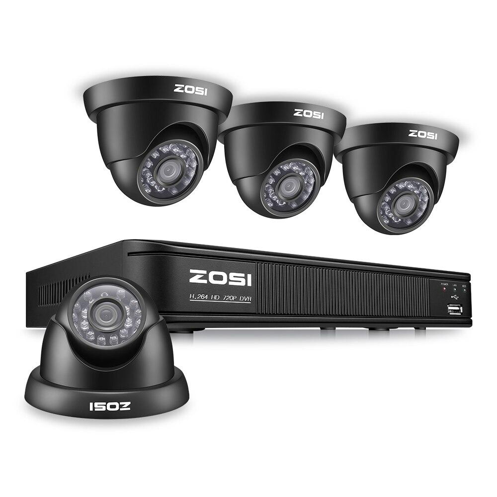 ZOSI 8CH CCTV Système 8CH Réseau TVI DVR 4 PCS 1280TVL IR Intempéries Caméra de Sécurité À Domicile Système de Surveillance Kits