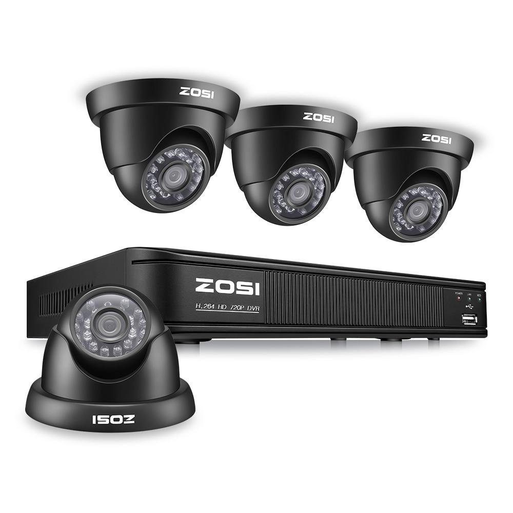 ZOSI 8CH CCTV System 8CH Network TVI DVR 4PCS 1280TVL IR Weatherproof Home Security Camera System Surveillance Kits zosi 8ch cctv system 720p ahd dvr hdmi 4pcs 720p ir night vision outdoor cctv camera home security system surveillance kits