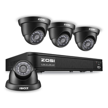 ZOSI 8-КАНАЛЬНЫЙ Системы ВИДЕОНАБЛЮДЕНИЯ 8-КАНАЛЬНЫЙ Сетевой ВИДЕОРЕГИСТРАТОР 4 ШТ. 1000TVL ИК Всепогодный Камеры Безопасности Дома Системы Видеонаблюдения Комплекты