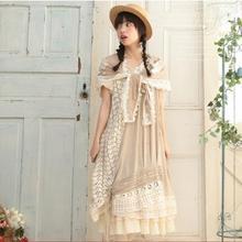 Летний женский сарафан без рукавов Асимметричный v-образный вырез цветок выдалбливают платье с вышивкой японские Mori Girl Платья X067