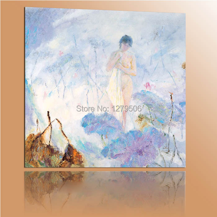 Handmade Modern Abstract Canvas Oil Painting Impressionism Nude Girl Wall Art Home Decor For Living Room