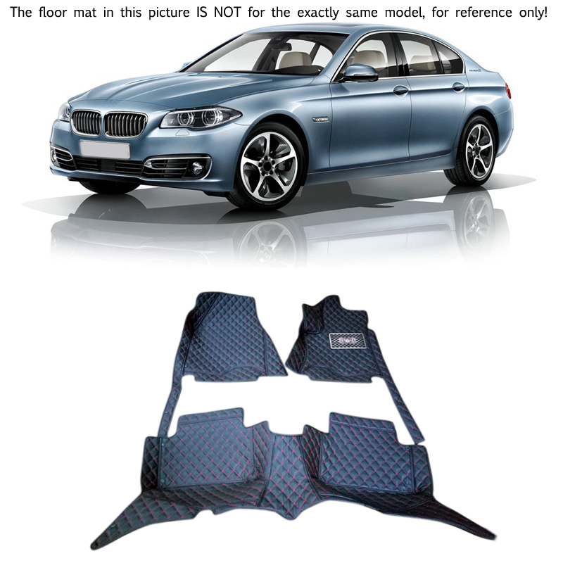 For BMW 5 Series F10 2014 2015 2016 Interior Leather Carpet Floor Mat Car Foot Mat 1set Car Styling accessories! 10 16 for land rover discovery 4 l319 2010 2016 accessories interior leather carpets cover car foot mat floor pad 1set