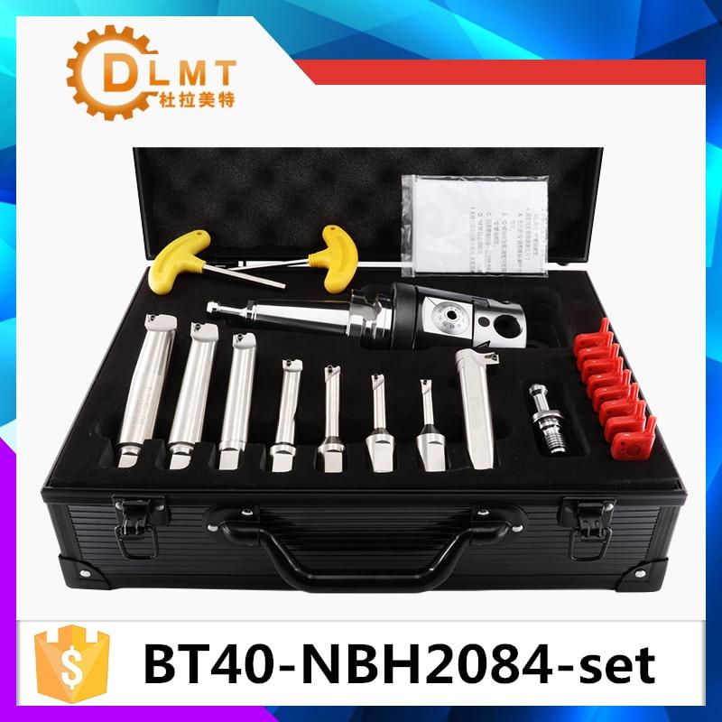 NBH2084 Sistema de 8-280mm Cabeça Chata + BT40 SK40 R8 NT40 MT4 MT5 MT3Holder + 8 pcs 20mm Barra Chata Chato tocou 8-280mm Ferramenta Chato conjunto